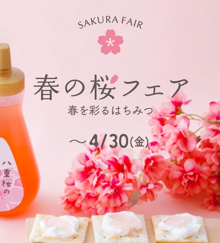 SAKURA FAIR 春の桜フェア 春を彩る、華やかなはちみつ ~4/30(金)